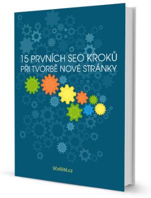 E-book 15 prvních seo kroků při tvorbě nové stránky od Včeliště.cz