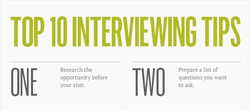 10 tipu, jak na pohovor - infografika - nahled