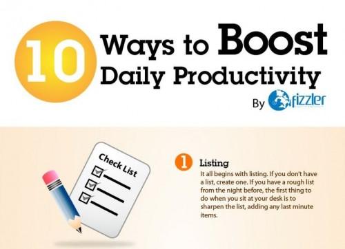 10 zpusobu, jak zvysit produktivitu - infografika - nahled