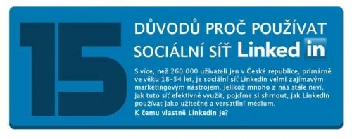 15 duvod proc pouzivat socialni sit Linkedin - infografika - nahled