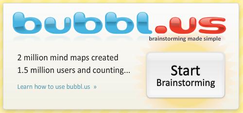 Bubbl.us - skvělý program pro tvorbu myšlenkových map