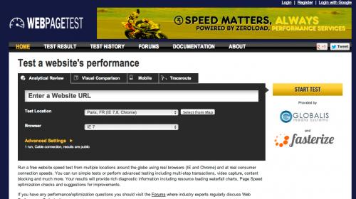 Webpagetest - zjistěte si rychlost načítání