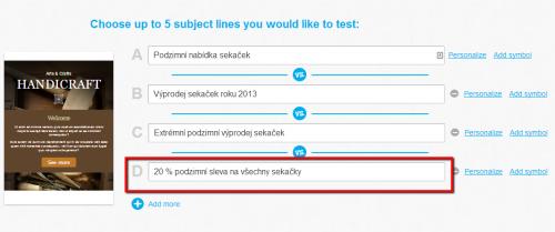 A/B testování předmětu e-mailu v e-mail marketingu