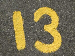 13 rad