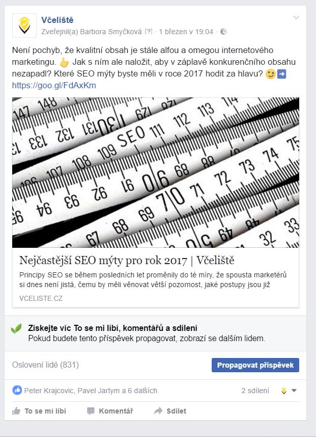 Propagace na sociální síti