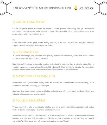 5 netradičních marketingových tipů.