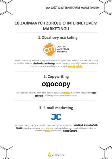 Zdroje internetového marketingu.