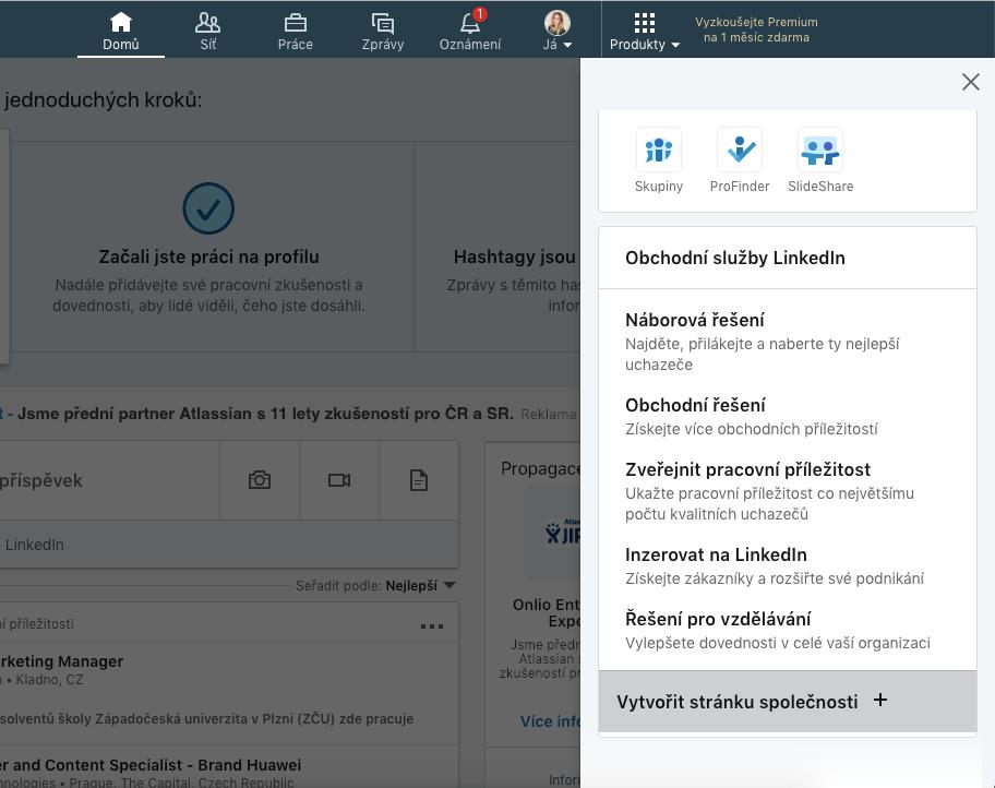Jak vytvořit stránku společnosti na LinkedIn.
