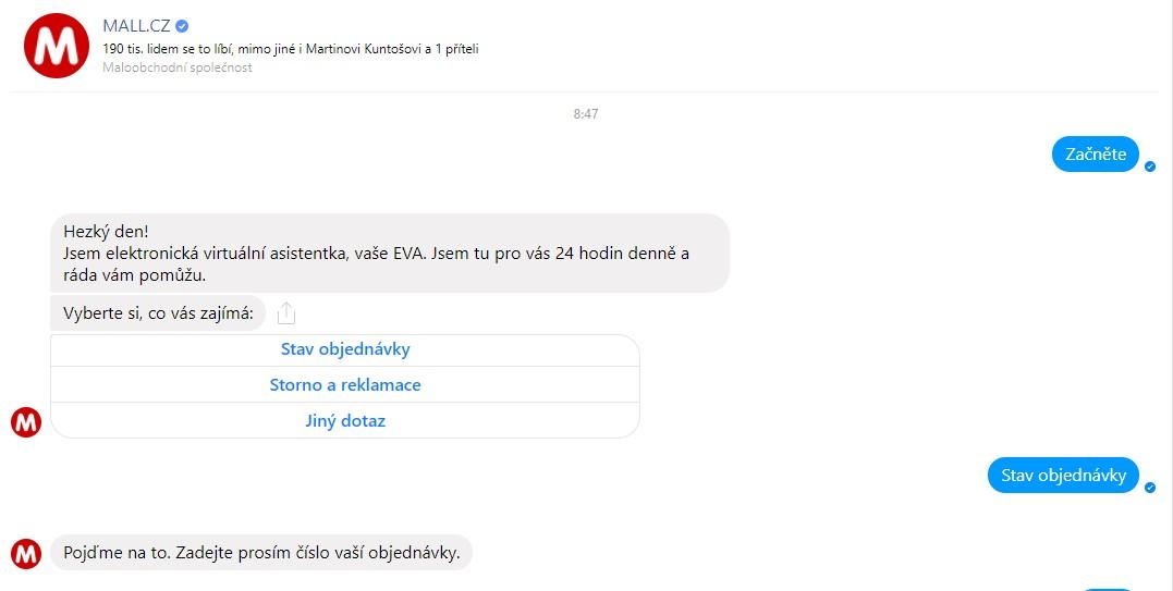 Chatbot MALL.CZ.