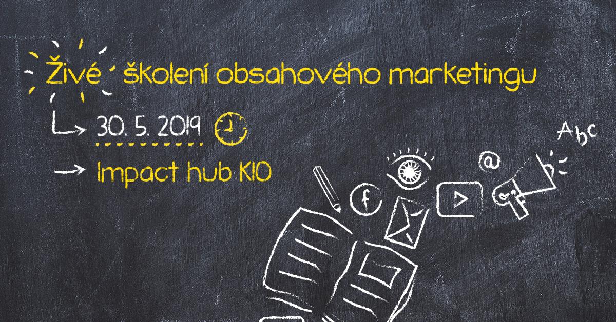 Včeliště Pořádá živé školení Obsahového Marketingu.