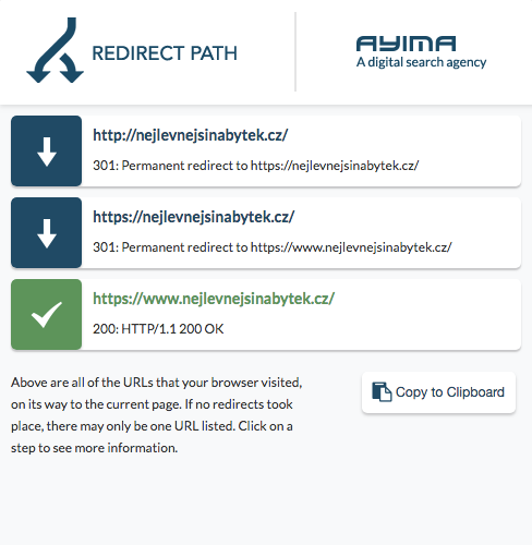 Redirect path.