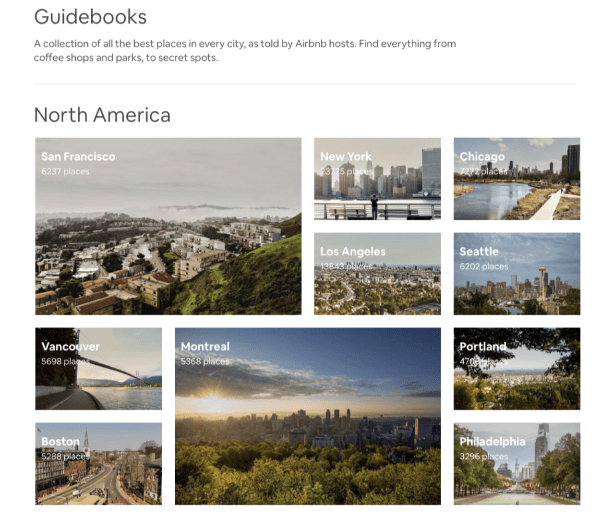 Guidebooks Airbnb.