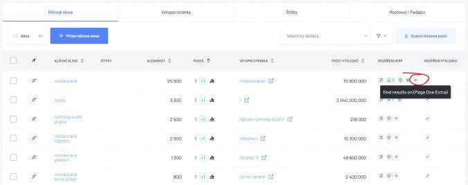 """Ikonka v Marketing Mineru znázorňující, že se váš web zobrazuje v sekci """"Najít výsledky na webu""""."""
