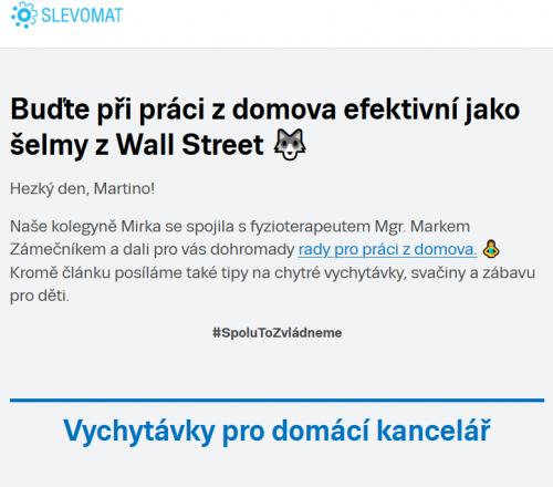 Příklad E-mailingu: Slevomat.cz