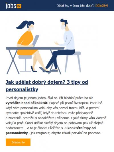 Příklad E-mailingu: Jobs.cz