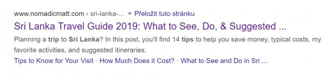 Odkazy z obsahu se objevují ve výsledcích vyhledávání