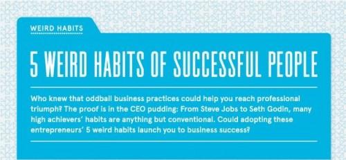 5 zvlastnich zvyku uspesnych lidi - infografika - nahled