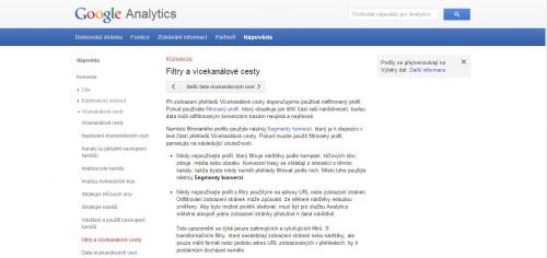 Google Analytics - Konverze - Filtry a vícekanálové cesty
