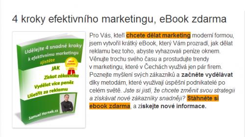 Samuel Hornek - 4 kroky efektivního marketingu