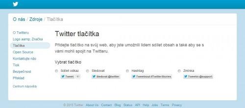 Twitter tlačítka