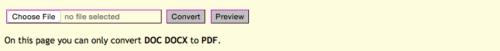 Na stránkách convertonlinefree.com stačí vybrat lokální dokument. Po chvíli se stáhne pdf.