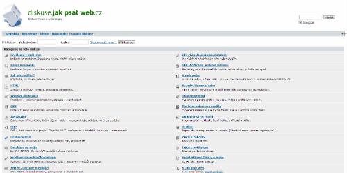 Screenshot Diskuze.JakpsatWeb.cz