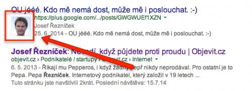 Autor ve výsledcích vyhledávání Google pomocí Google Plus