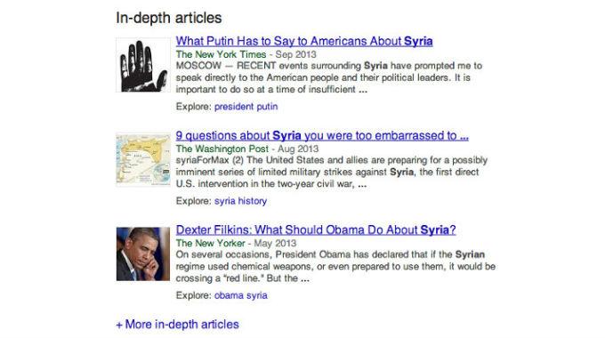 Hloubkové články- Novinka V Google