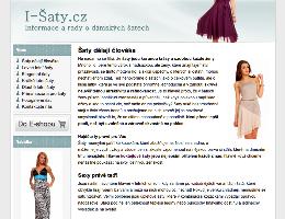 Mikrostránka i-saty.cz pro Damson