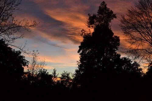 listopad zapad slunce