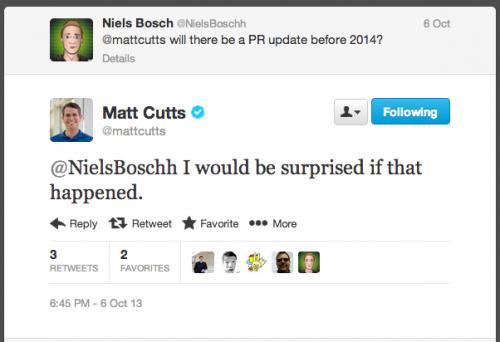 Matt Cutts odpovídá na Twitteru ohledně PageRanku