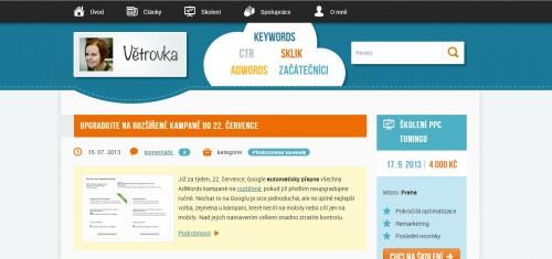 Printscreen Vetrovka.cz
