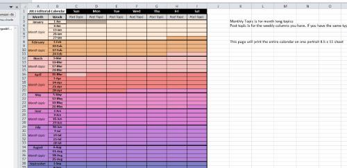 Duhová šablona od ScrapsOfMyGeekLife - pro milovníky Excelu
