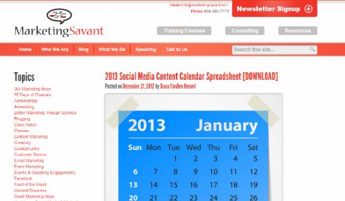 Pro milovníky sociálních strategií šablona od Marketing Savant