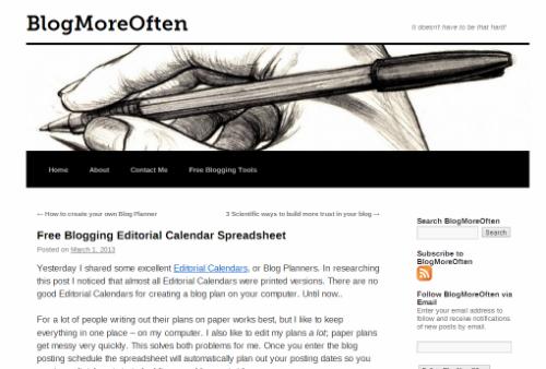 Šablona obsahového kalendáře od Blog More Often