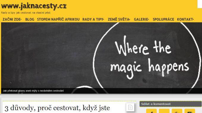 SEO Audit Stránek Jaknacesty.cz