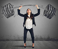 The Strength Of A Businesswoman At Work