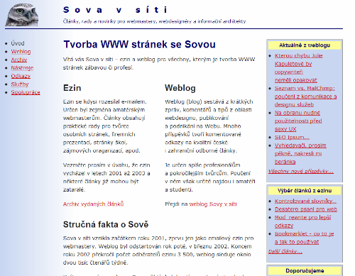 Screenshot Sovavsiti.cz