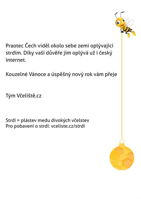 Vánoční pohlednice Včeliště.cz 2014