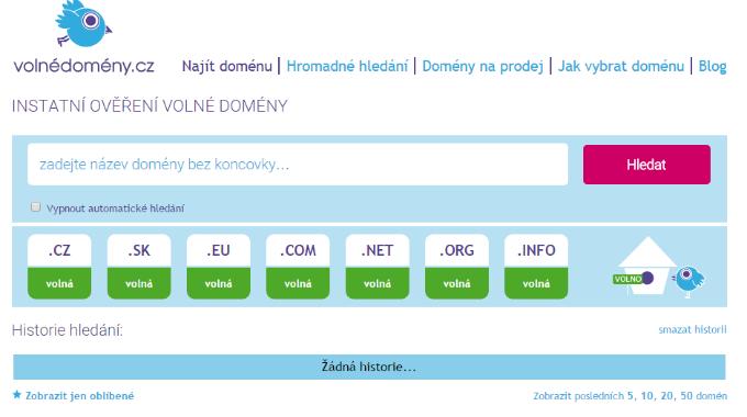 VolnéDomény.cz: Pomocník Při Hledání Volné Domény